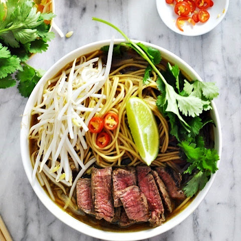 Asian Beef & Noodle Soup with 5-Ingredients Beef Broth