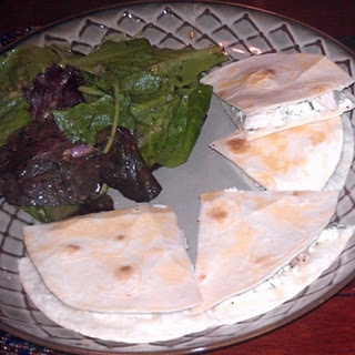 Lemon-Rosemary Chicken Quesadilla Salad with Shallot-Mustard Vinaigrette