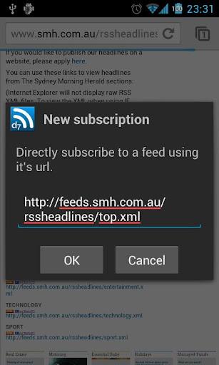 D7 Reader Pro (RSS News) - screenshot