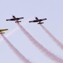 Acrobatic planes by Adrian Ioan Ciulea - News & Events Entertainment ( flight, fighters, sky, planes, smoke )