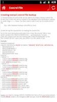 Screenshot of Oracle DBA help