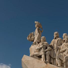 The quest by Sam Samuelson - Buildings & Architecture Statues & Monuments ( statue, tagus, monument, lisbon, lisboa )