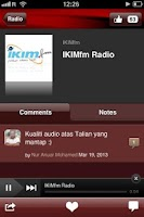 Screenshot of IKIMfm Radio - Official App