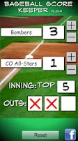 Screenshot of Baseball/Softball Score Keeper