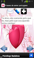 Screenshot of Frases de amor - português