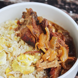 Slow Cooker Filipino Pork With Garlic Fried Rice