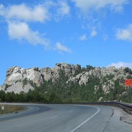 Approaching Mount Rushmore by Dawn Schriebl Hartley - Landscapes Travel
