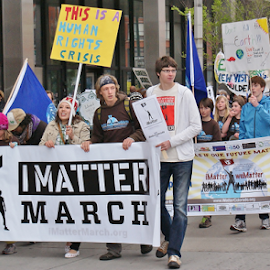 I Matter March Denver,Co, may 2011 by Chris Goodwin - News & Events Politics ( politics, march, environment, kids, climate change, global warming, people, crowd, humanity, society )