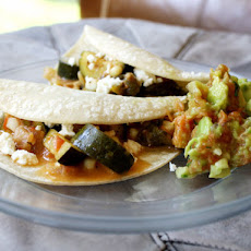 Zucchini Corn Tacos with Queso Fresco