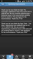 Screenshot of AT&T Mark the Spot