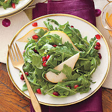 Pomegranate, Pear and Arugula Salad