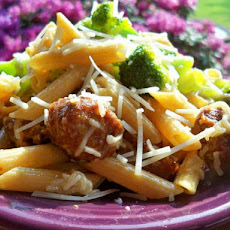 Sweet Italian Sausage With Penne Pasta