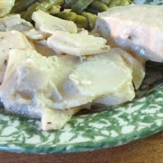 Manuel's Crock Pot Pork Chops and Potatoes in Mustard Sauce
