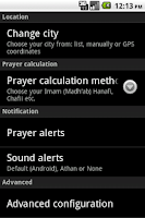 Screenshot of Muslim Salat Widget