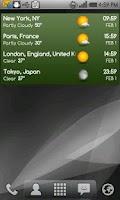 Screenshot of World clock & weather