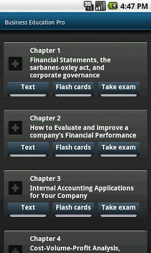 包含专业测试和闪存卡的商业教育课程
