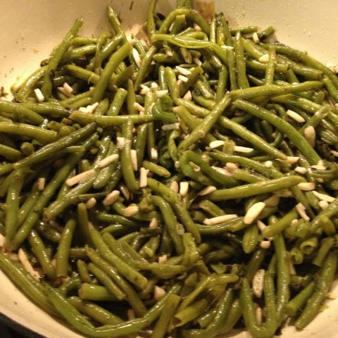 Green Beans with Golden Slivered Almonds