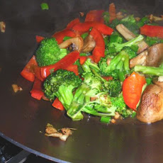 Broccoli 'n Red Peppers Stir Fried
