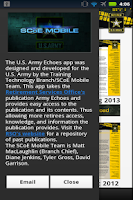 Screenshot of U.S. Army Echoes