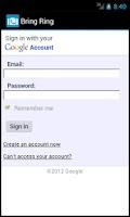 Screenshot of Bring Ring (for Google Voice)