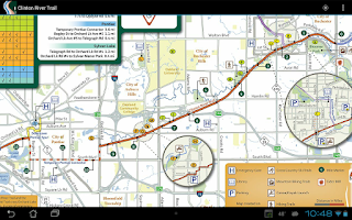 Screenshot of Clinton River Trail Map