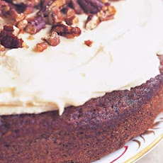 Carrot Cake With Pecans, Maple Syrup And Orange Buttercream