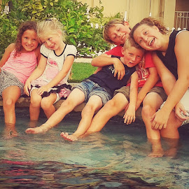 cousin fun time by Heather McDougall - Babies & Children Children Candids ( group of kids, water, laughing, kids,  )