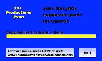 Screenshot of Julie Resynth for Caustic