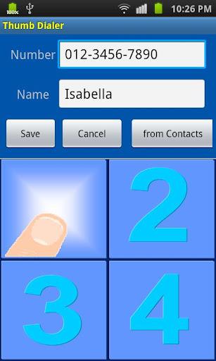 【免費通訊App】Thumb Dialer-APP點子