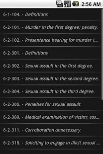 WYLaw - Criminal Law - Title 6 - screenshot