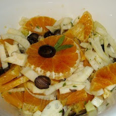 Sicilian Orange, Fennel And Black Olives Salad