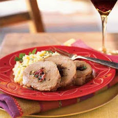 Dried Plum-Stuffed Pork Loin in Sweet Sherry Sauce (Lomo Relleno)