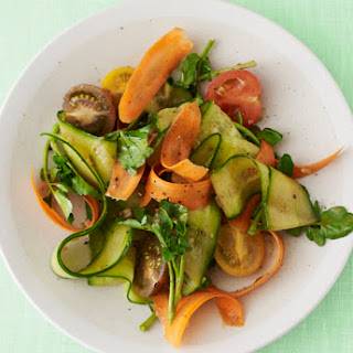 Balsamic Cucumber and Carrot Ribbon Salad