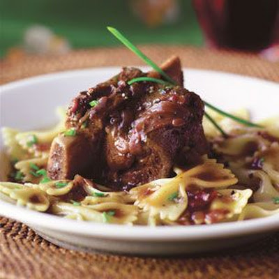 Wine-Braised Short Ribs with Lemon Pasta