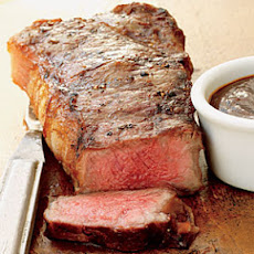 Strip Steaks with Red-Eye Barbecue Sauce