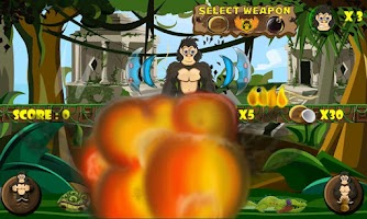 Screenshot of Brave Temple Gorilla: Bombs