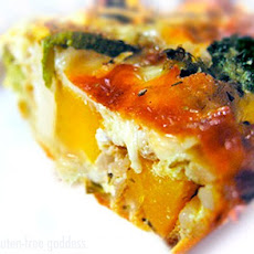 Karina's Crustless Quiche with Roasted Vegetables