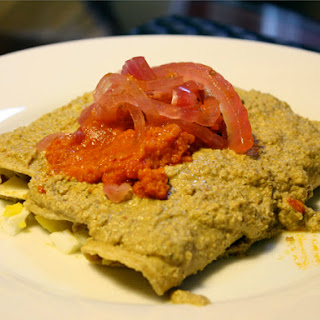 Yucatecan Papaduzul (Enchiladas Stuffed with Hard-Boiled Eggs)