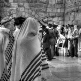 Jews at the Western Wall by Yuval Shlomo - People Street & Candids