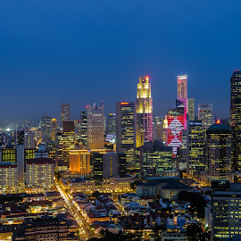 Beauty Of The Night by Desmond Ngan - City,  Street & Park  Skylines ( night photography, night landscape, skylines, nightscapes, singapore )