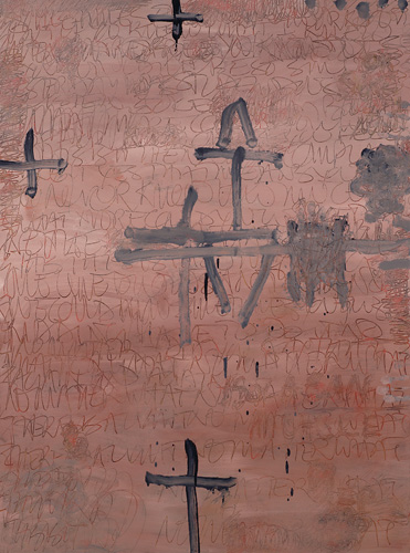 """<p> <strong>Isola San Michele I</strong><br /> Oil on prepared paper<br /> 50"""" x 38""""<br /> 2008<br /> Private collection, West Vancouver</p>"""