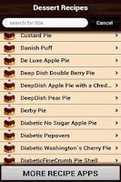 Screenshot of Dessert Recipes Cookbook