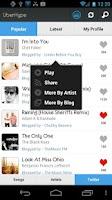 Screenshot of UberHype for Hype Machine