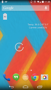 Battery+ Widget - screenshot