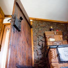 Wooden door by Lucian Pirvu - Buildings & Architecture Homes ( door, wood door, open door,  )