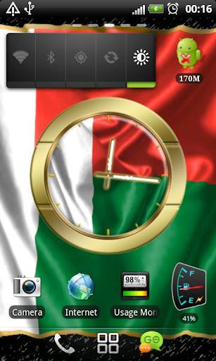 Madagascar flag clocks