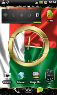 Madagascar flag clocks - screenshot