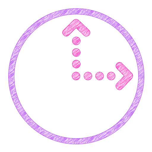 Scribbles Purple Analog Clock LOGO-APP點子