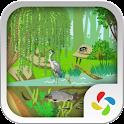 Pond ecosystem icon