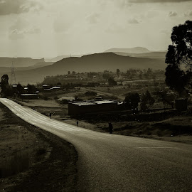 Lesotho Road  by Marleen Dulce - Landscapes Travel ( freedom, road, travel photography )